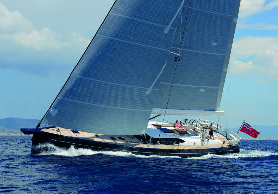 Luxury yacht Oyster 825 under sail