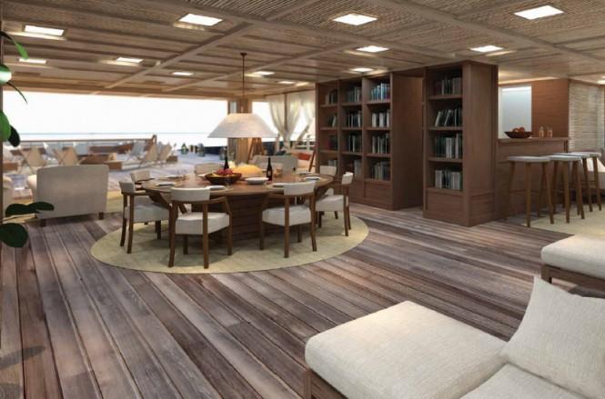 Luxury yacht X-Ballet concept - Interior