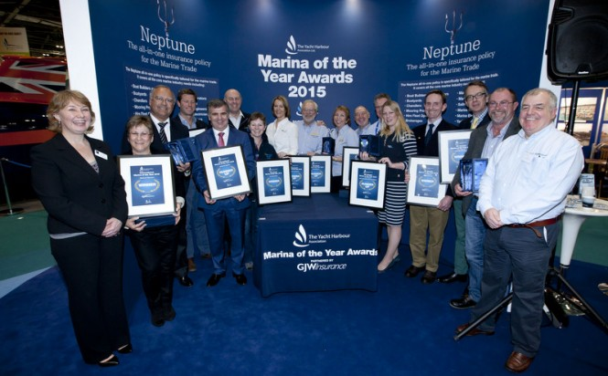 TYHA Marina of the Year Awards 2015 Winners at the CWM FX London Boat Show - Image credit to onEdition