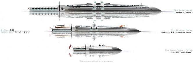 Meitou superyacht concept by Alex McDiarmid