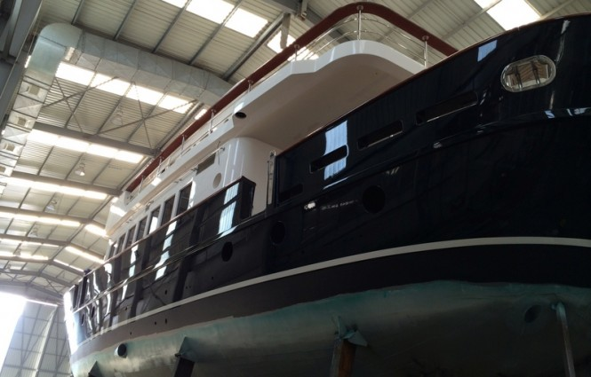 Motor sailer yacht Svetlana in build