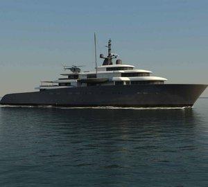 New 92m mega yacht X-BALLET concept design by Pastrovich
