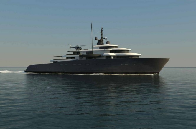 New 92m mega yacht X-Ballet concept by Pastrovich