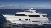 Ocean Alexander 100 superyacht underway