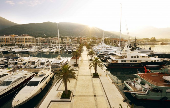 Porto Montenegro - a lovely Montenegro yacht rental destination