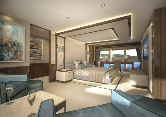 Project Gold Diamond Yacht - Image by Sunseeker International