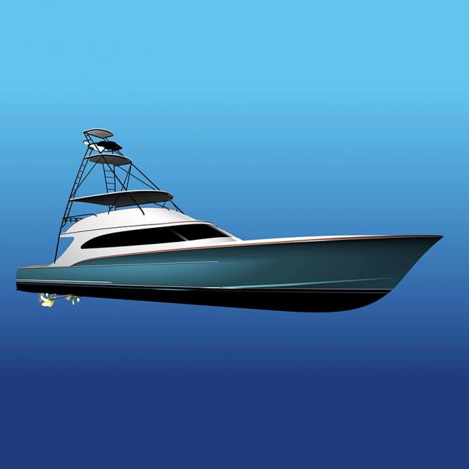Rendering of the Jarrett Bay 90 Yacht Project Ireland (Hull 62)
