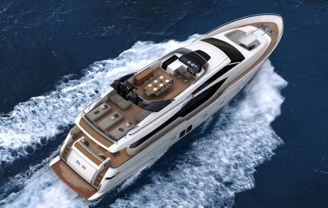 Sanlorenzo SL86 Yacht from above