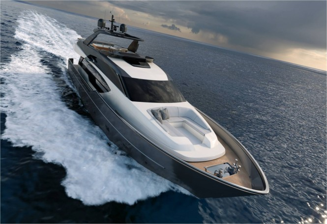 Sanlorenzo SL86 superyacht running