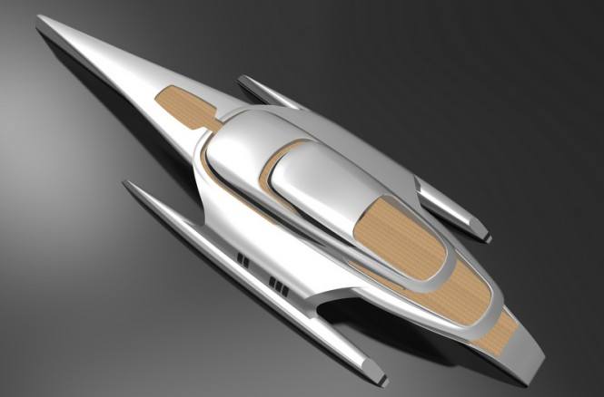 Shuttleworth 80M superyacht design from above