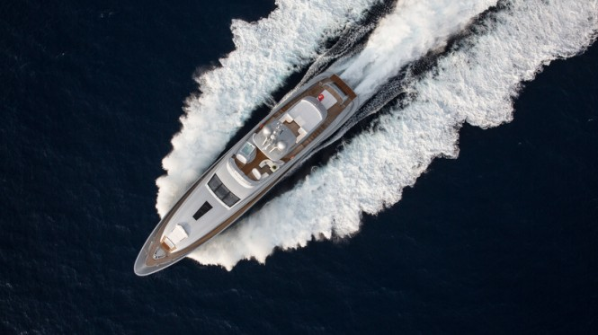 Silver Wind superyacht - top view - Photo Credits @ SuperyachtMedia