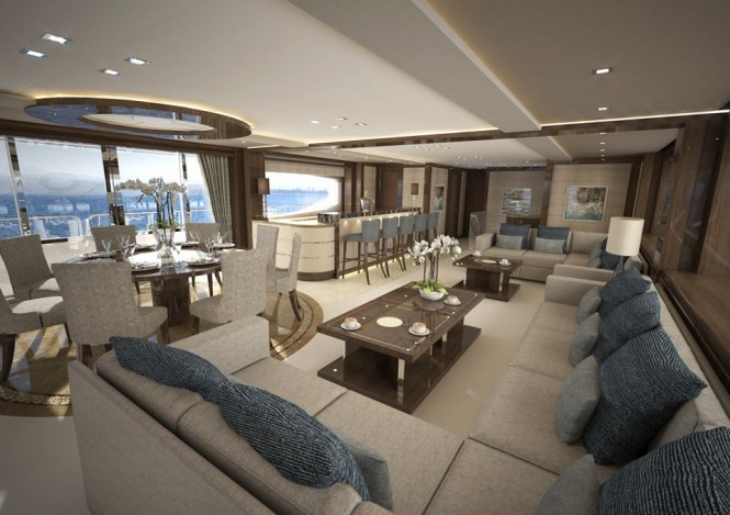 'Sunseeker 155 Yacht' super yacht Project Gold Diamond - Image credit to Sunseeker International