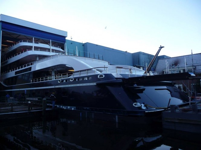 Superyacht Hull 808 by Feadship at launch - Photo by Feadship Fan Club