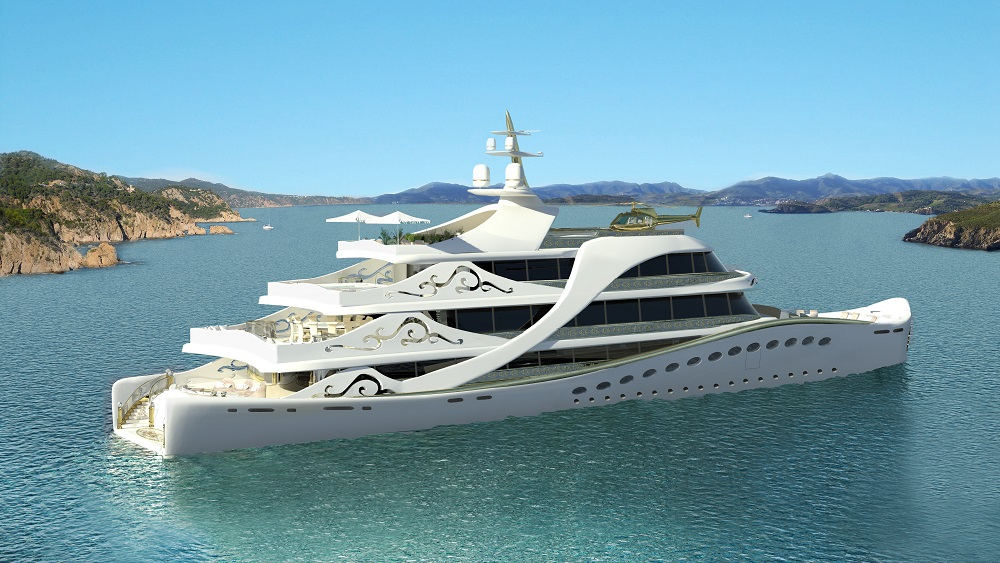 Superyacht LA BELLE - aft view