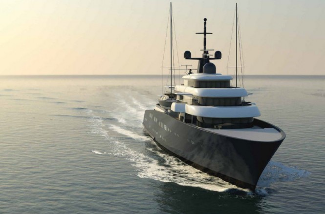 Superyacht X-Ballet concept - front view