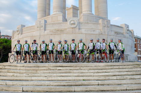 The C4C team during the cycle ride from Ancona to Antibes