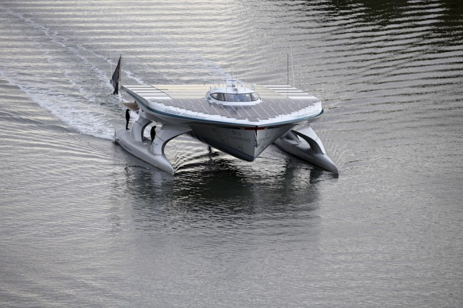 The world's largest solar catamaran Planet Solar designed by Knierim