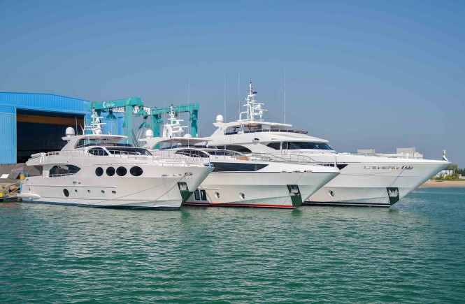Three new superyachts launched by Gulf Craft in one week