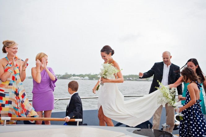 Weddings aboard M/Y ALGORYTHM