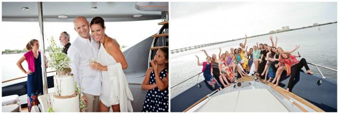 Weeding aboard ALGORYTHM yacht