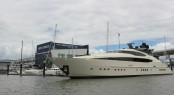 45m Palmer Johnson superyacht Vantage at Rivergate Marina and Shipyard