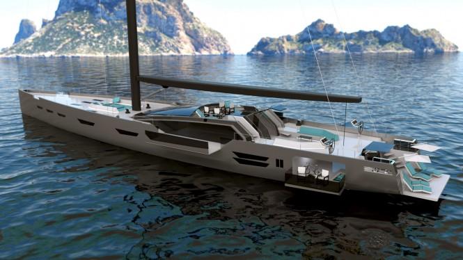 45m superyacht Oceanaid concept