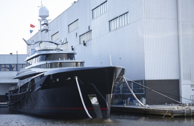 46m motor yacht KISS (hull 689) launched by Feadship