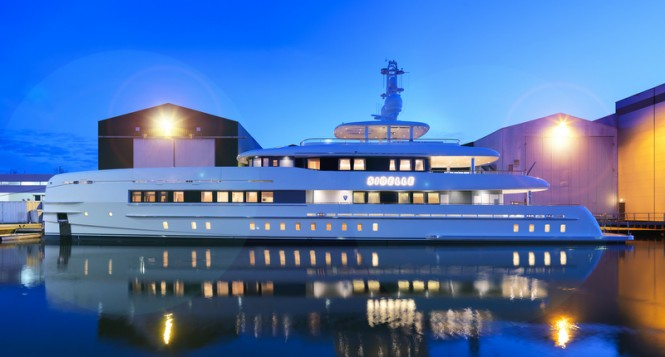 50m Heesen superyacht Sibelle - Photo by Dick Holthuis