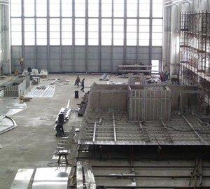 Photos of 62m Rossinavi superyacht FR031 under construction