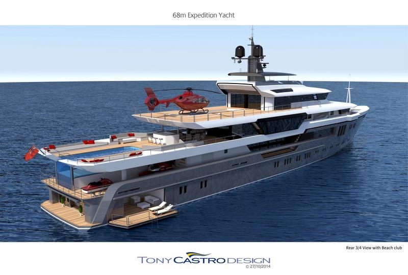 Castro Yacht 68m Tony Castro Yacht Concept