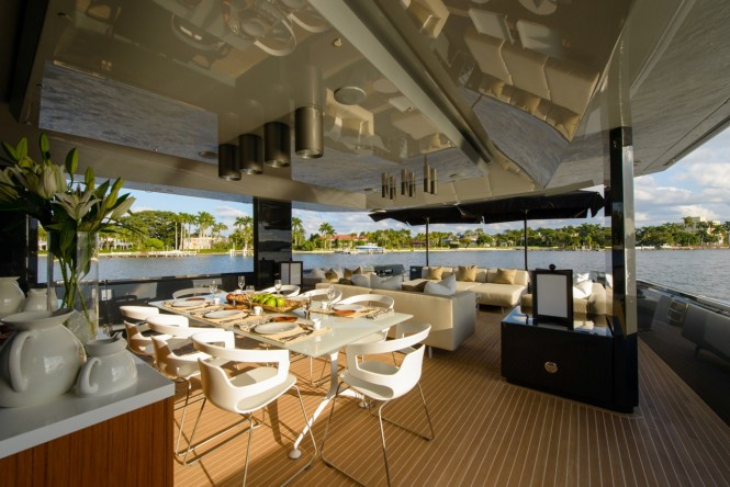 8th Arcadia 85 US edition Yacht - aft deck