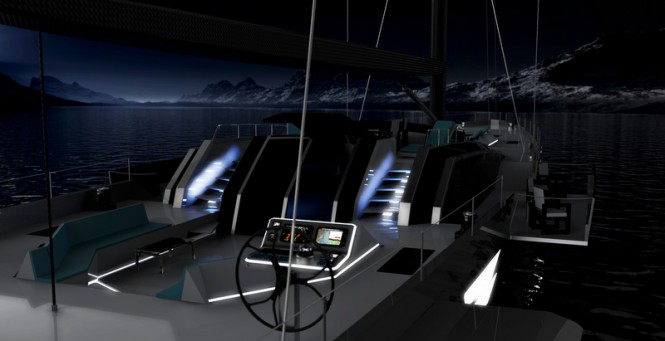 Aboard sailing yacht Oceanaid concept
