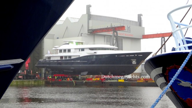 Amels Hull 467 superyacht at launch