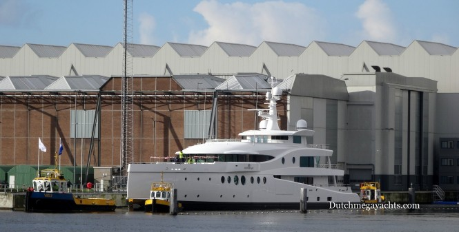 Amels superyacht Madame Kate at launch