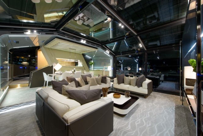 Arcadia 85 US edition Yacht Hull no. 8 - Saloon