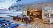 Bridge deck aft Calliope Yacht