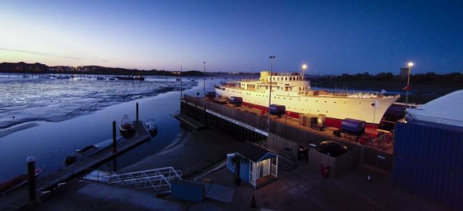 Launch of 65m motor yacht Shemara by Burgess Marine - Copyright Jake Sugden