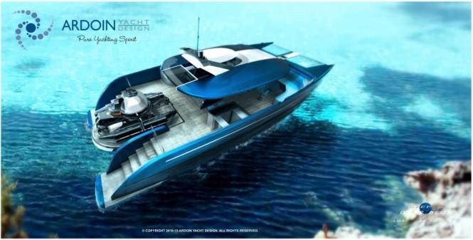 Catamaran DEEP BLUE concept by Ardoin Yacht Design