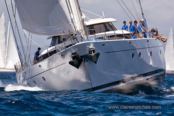 Charter yacht Hyperion competing at the 2009 Superyacht Cup