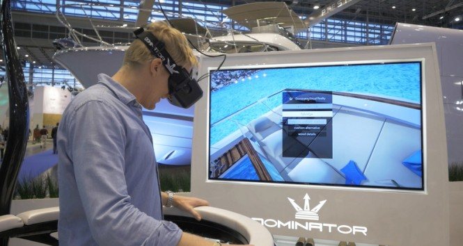 Dominator luxury yacht ILUMEN brought to life by virtual reality