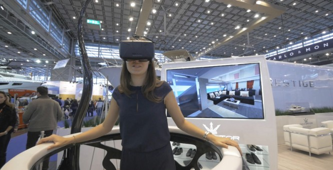 Dominator super yacht ILUMEN brought to life by virtual reality at the 2015 Dusseldorf Boat Show