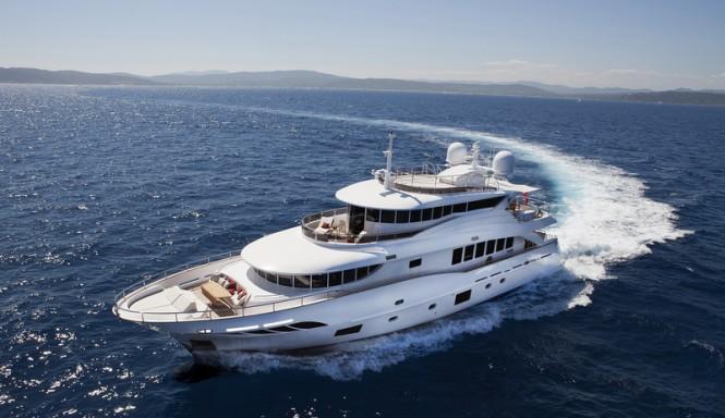 Filippetti Navetta 30 super yacht GATSBY underway