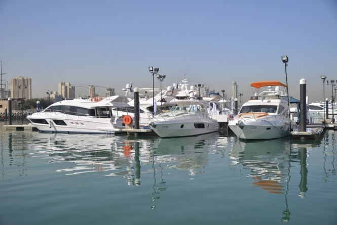 Gulf Craft fleet at the Kuwait Yacht Show