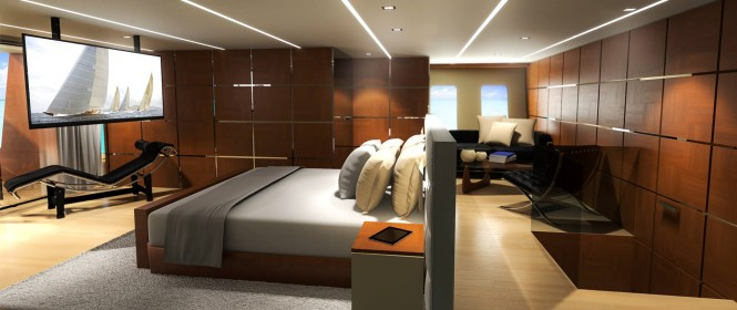 Helios superyacht concept - Owners Cabin