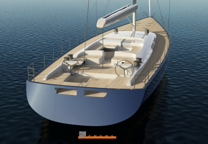 Hull 1012 Yacht - aft view