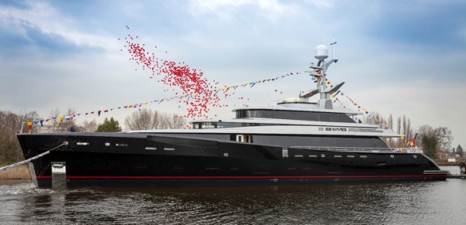 Just launched 46m super yacht KISS (hull 689) by Feadship