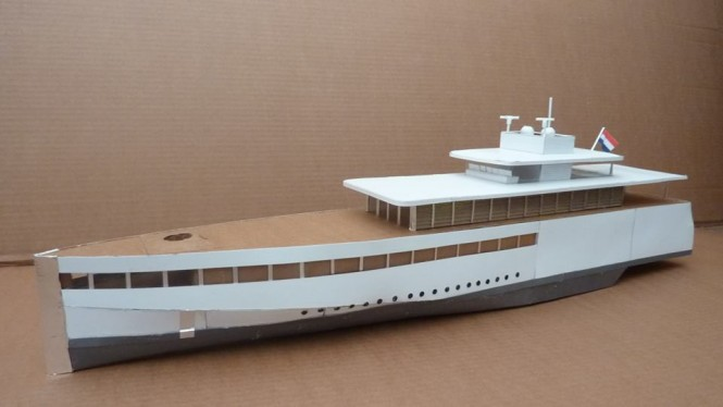 Latest project of Cardboardyachts inspired by Feadship motor yacht VENUS