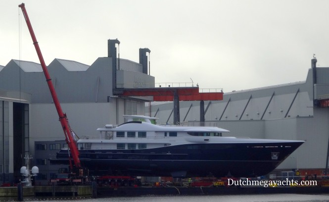 Launch of Amels super yacht Hull 467