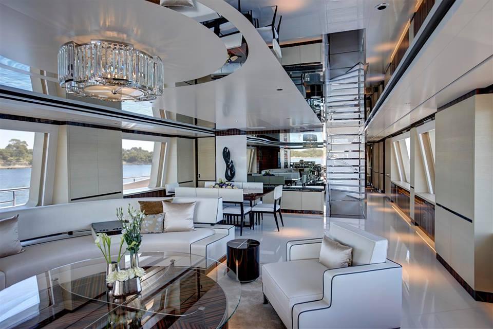 Luxury motor yacht COMO - Interior — Yacht Charter ...