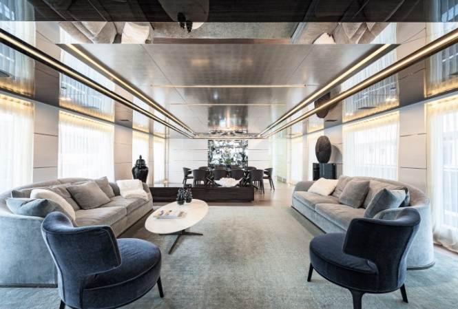Luxury motor yacht Entourage with interior design by Dragana Maznic